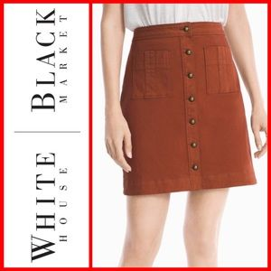 💥 HOST PICK! 💥 WHBM A-LINE BUTTON-FRONT SKIRT